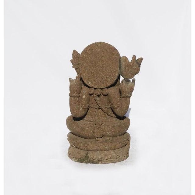 Green stone carved ganesh chairish