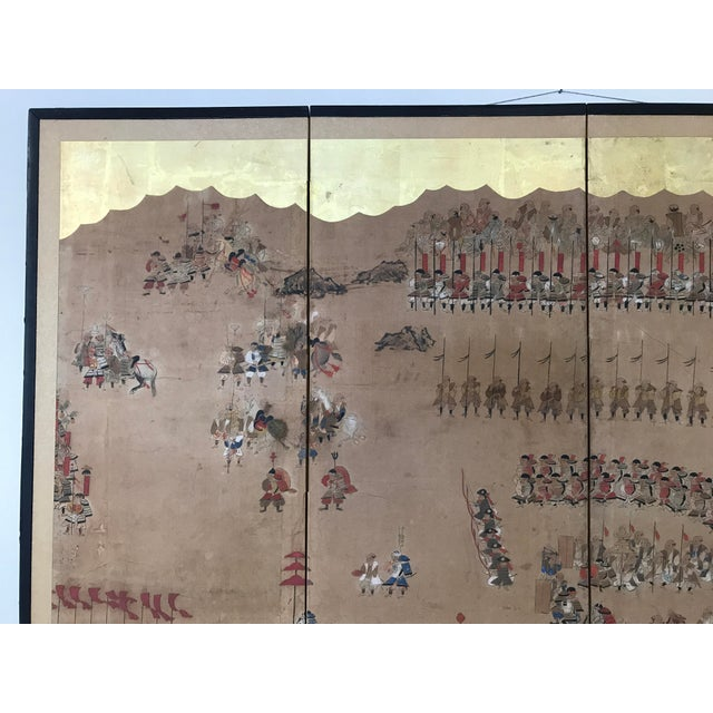 Early 19th Century Japanese 4 Panel Screen For Sale In Raleigh - Image 6 of 8