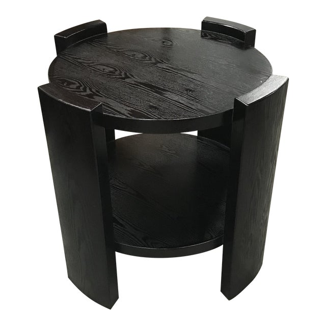 Monumental French Art Deco Solid Ebonized Cerused Oak Coffee Table Circa 1940s. - Image 1 of 11