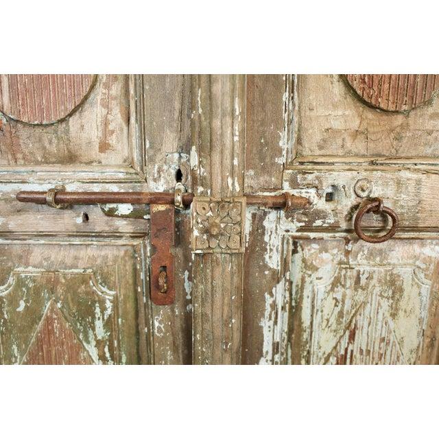 Old Jodhpur Carved Entrance Doors For Sale - Image 4 of 8