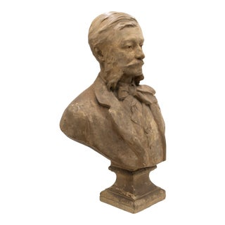 Paul Gasq Terra-Cotta Gentleman Bust For Sale