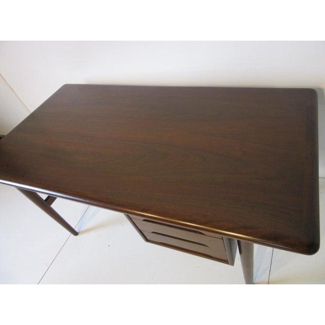 Walnut Danish Mid-Century Desk For Sale - Image 7 of 10