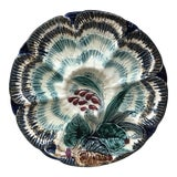 Image of C.1890 Majolica Oyster Plate Wasmuel For Sale
