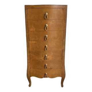1940s Italian Burl-Wood Chest of Drawers For Sale