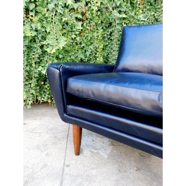 Wood Mid-Century Leather Chair For Sale - Image 7 of 8