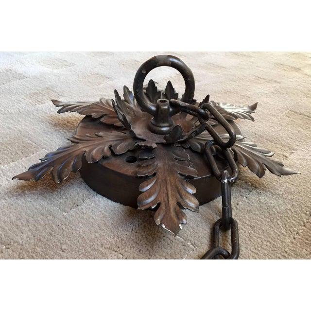 Bronzed Metal Nineteen-Light Florentine Chandelier For Sale - Image 10 of 12
