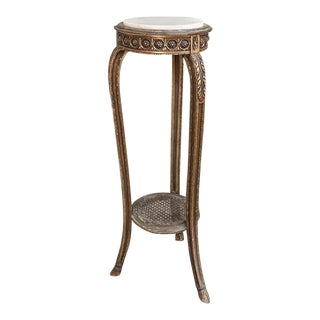 Pedestal, 19th Century French Louis XVI Giltwood With Marble Top For Sale