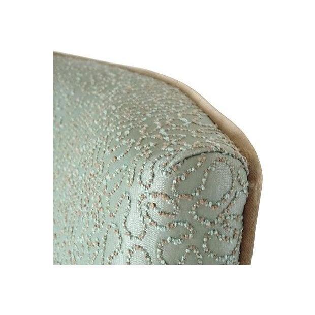 Sea Foam Velvet Swirl Chairs- A Pair - Image 2 of 7