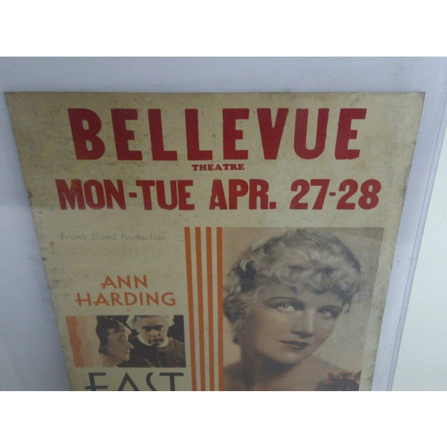 """Bellvue Theatre Poster, """"East Lynne,"""" 1931 For Sale - Image 5 of 8"""