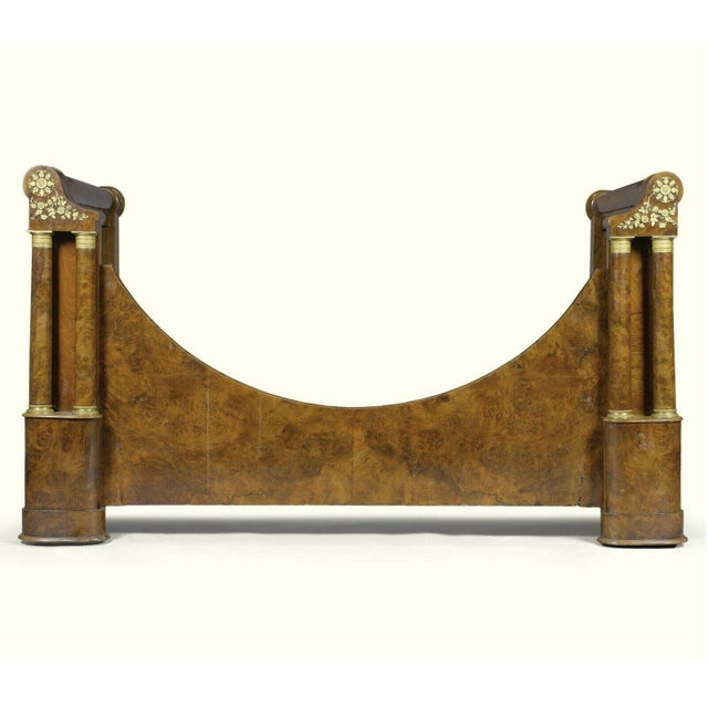 19th Century French Empire Walnut & Gilt Bronze Bedframe From Gianni Versace Estate For Sale - Image 10 of 10