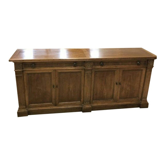Heritage Grand Tour Rustic Solid Wood Buffet Server For Sale