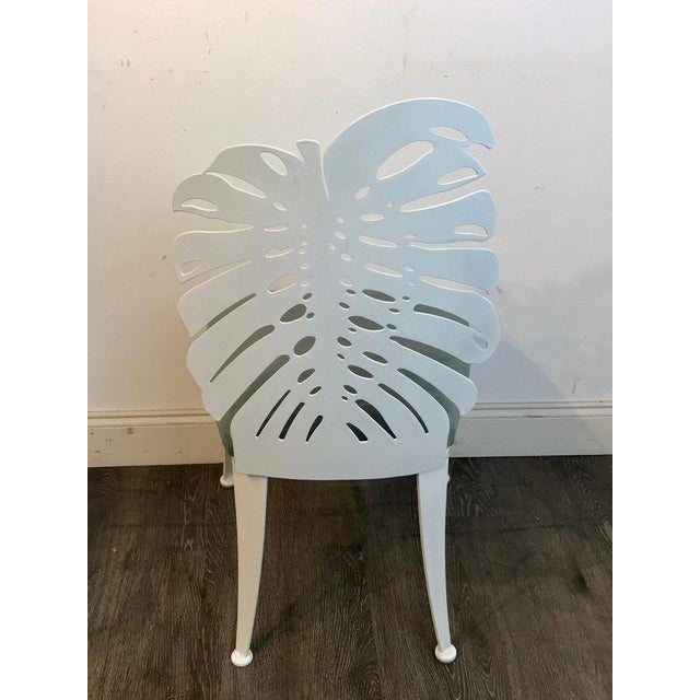 Six 1970s Wrought Iron Palmette Chairs, Restored For Sale - Image 4 of 10