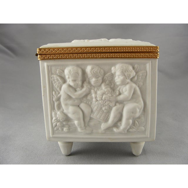 Limoges France White Bisque Dresser Box - Image 5 of 10