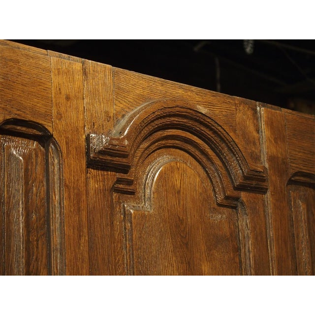 Brown Early 1900s French Louis XIV Style Oak Entry Door For Sale - Image 8 of 11