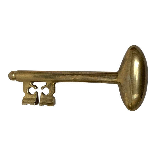 Bulbous Brass Key Paper Weight For Sale