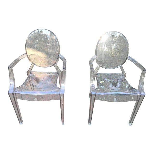Kartell Louis Ghost Chairs by Phillip Starck - a Pair For Sale