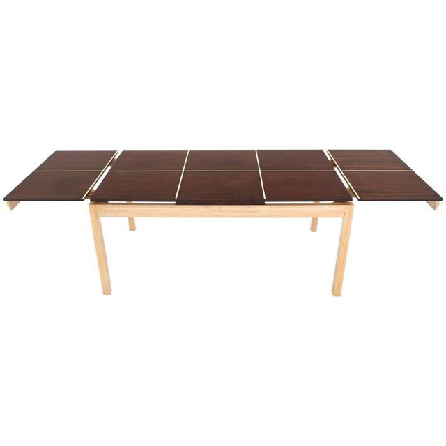 Tommi Parzinger Tommy Parzinger Dining Table with Two Leaves For Sale - Image 4 of 9