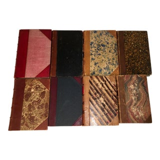 Antique Leather Books - Set of 8
