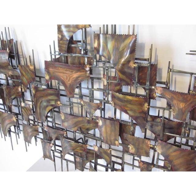 Silas Seandel Styled Large Brutalist Wall Sculpture For Sale In Cincinnati - Image 6 of 7