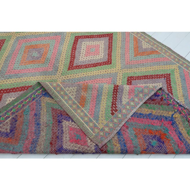 Anatolian Kilim Turkish Embroidery Rug For Sale - Image 12 of 13