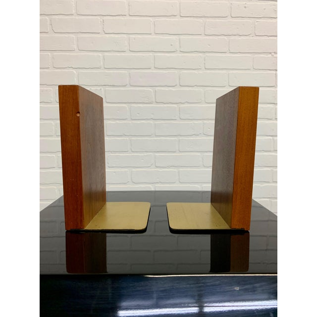 Wood Gordon & Jane Martz for Marshall Studios Walnut and Tile Bookends For Sale - Image 7 of 10