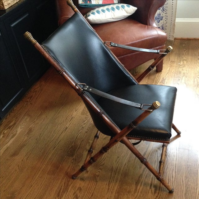 Antique Folding Campaign Chair - Image 4 of 7