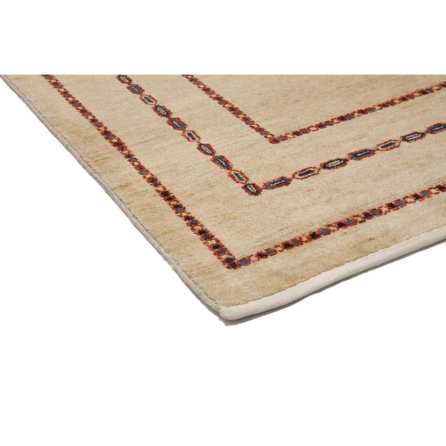 "Contemporary Hand Knotted Area Rug - 4'1"" X 6'4"" - Image 2 of 3"