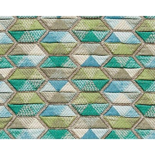 Hinson for the House of Scalamandre Carousel Fabric in Aqua For Sale