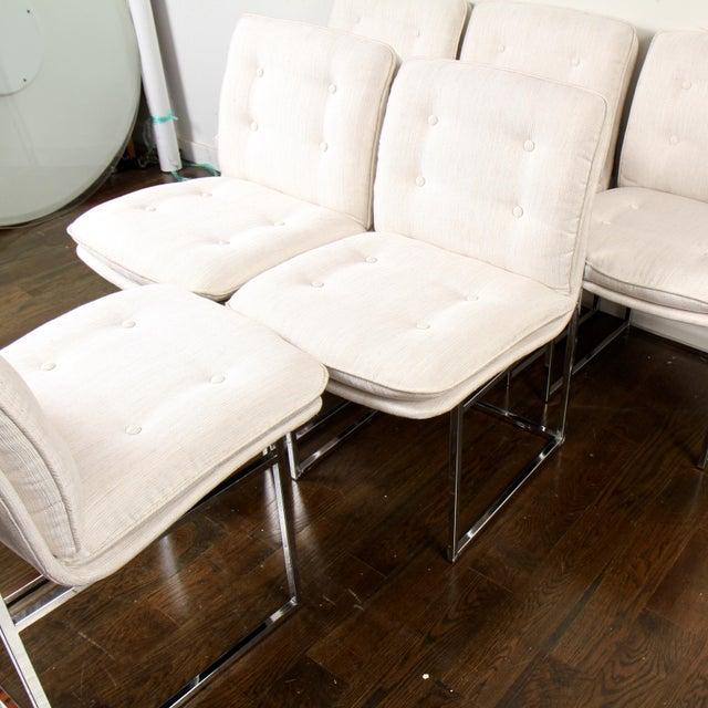 Milo Baughman for Thayer Coggin Milo Baughman for Thayer Coggin Chrome Dining Chairs For Sale - Image 4 of 10