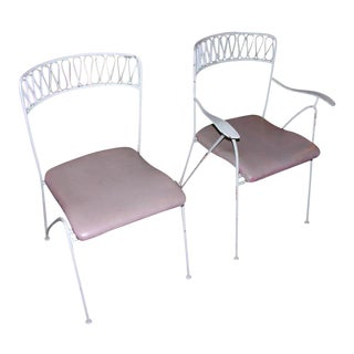 Tempestini for Salterini Wrought Iron Ribbon Chairs - Set of 14 For Sale