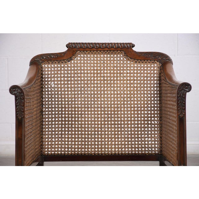 Late 19th Century Set of French 19th Century Traditional Louis XIV Bergere For Sale - Image 5 of 8