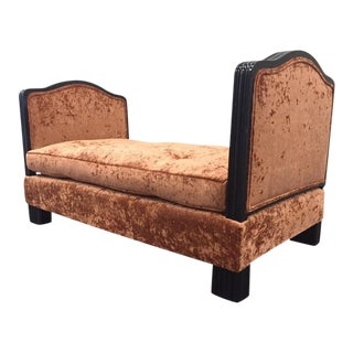 French Art Deco Velvet Daybed For Sale