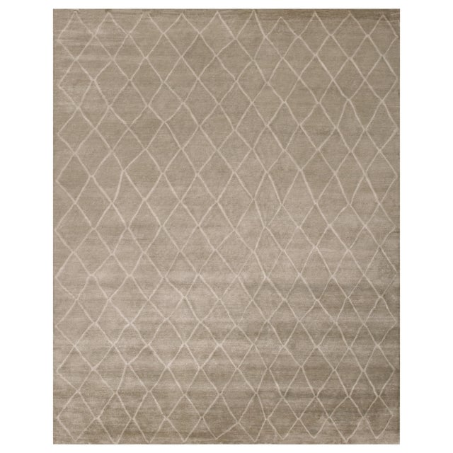 Stark Studio Rugs Contemporary Oriental 100% Bamboo Silk Rug - 9' X 12' For Sale
