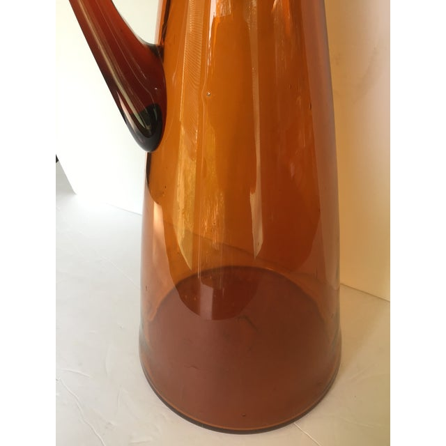 Mid 20th Century Mid-Century Blenko Orange Pitcher Winslow Anderson For Sale - Image 5 of 9