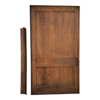 19th Century Antique Door Pocket Pantry Barn With Door Plate/Header For Sale