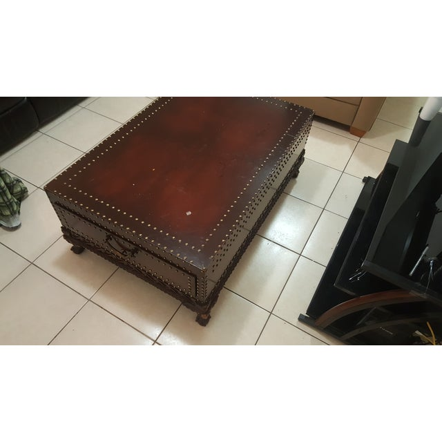 Traditional Ralph Lauren Trunk Coffee Table For Sale - Image 3 of 3