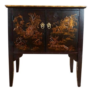 Chinoiserie Black Wooden Cabinet