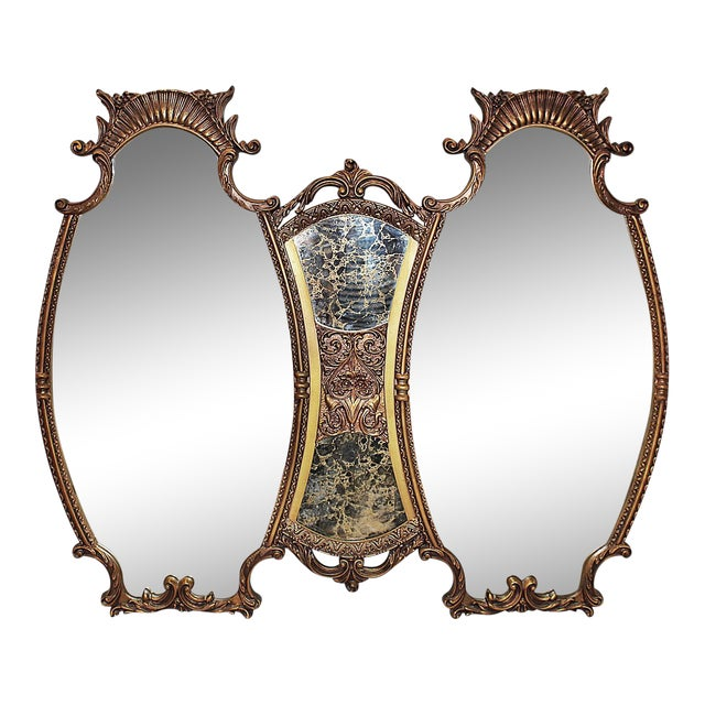 Hollywood Regency Style Large Mirror Chairish