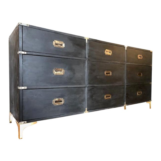 1960s Campaign Carlton House Triple Dresser For Sale