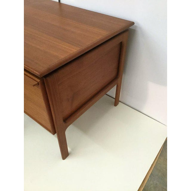 Danish Teak Double Pedestal Desk with Matching Chair For Sale - Image 5 of 10
