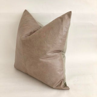 Taupe Leather Pillow 24 X 24 Preview