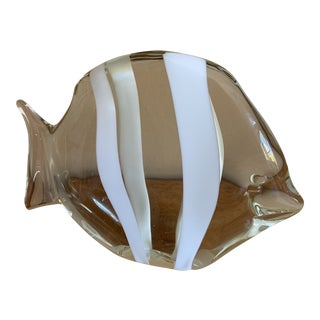 1970s Murano Clear Glass Fish Sculpture by Archimede Seguso For Sale