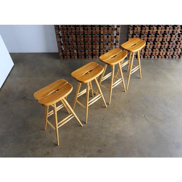 Mid-Century Modern Mid Century Ilmari Tapiovaara Stools - Set of 4 For Sale - Image 3 of 12