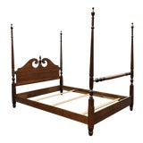 Image of Solid Cherry Harden Furniture Queen Bed For Sale