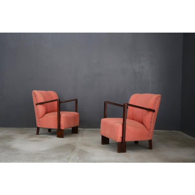 Pair of 50s Armchairs by Melchiorre Bega. For Sale - Image 6 of 6