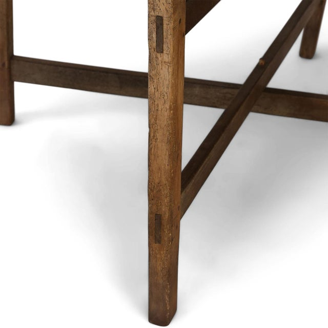Wood Unusually Large Early Vendange Table For Sale - Image 7 of 13