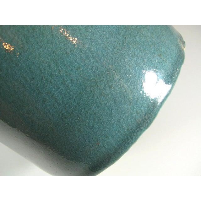 Chinese Antique Chinese Blue Glaze Brush Pot/Bitong For Sale - Image 3 of 8