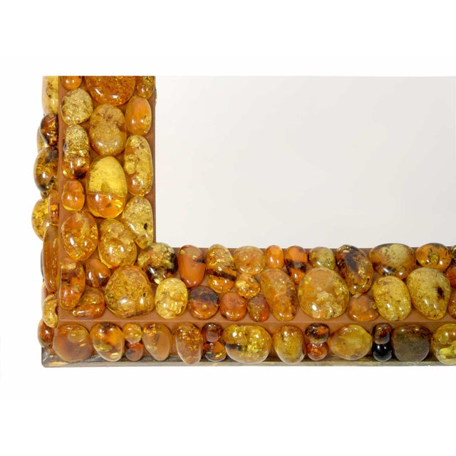 Contemporary Kam Tin - Amber Mirror With Amber Cabochons, France, 2016 For Sale - Image 3 of 4