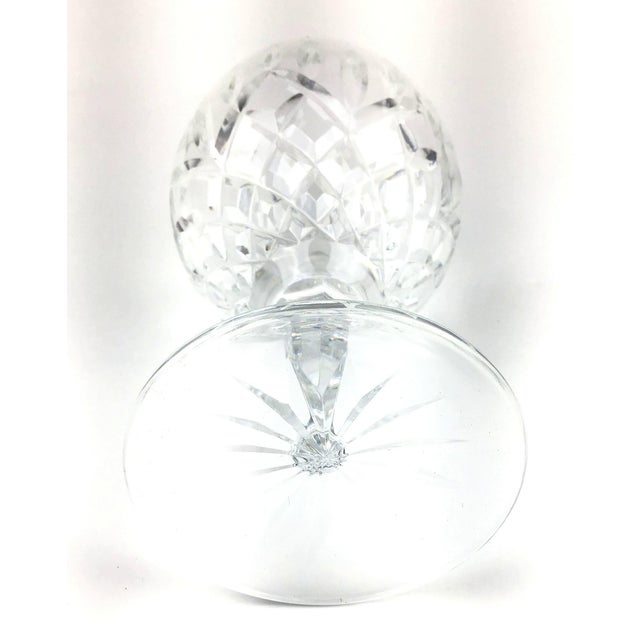 Cut Crystal Heavy Water Glasses - Set of 4 For Sale - Image 9 of 10