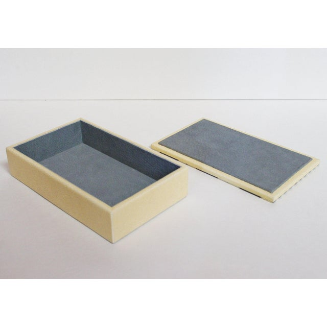 2010s Ivory and Black Shagreen Box by Fabio Ltd For Sale - Image 5 of 6